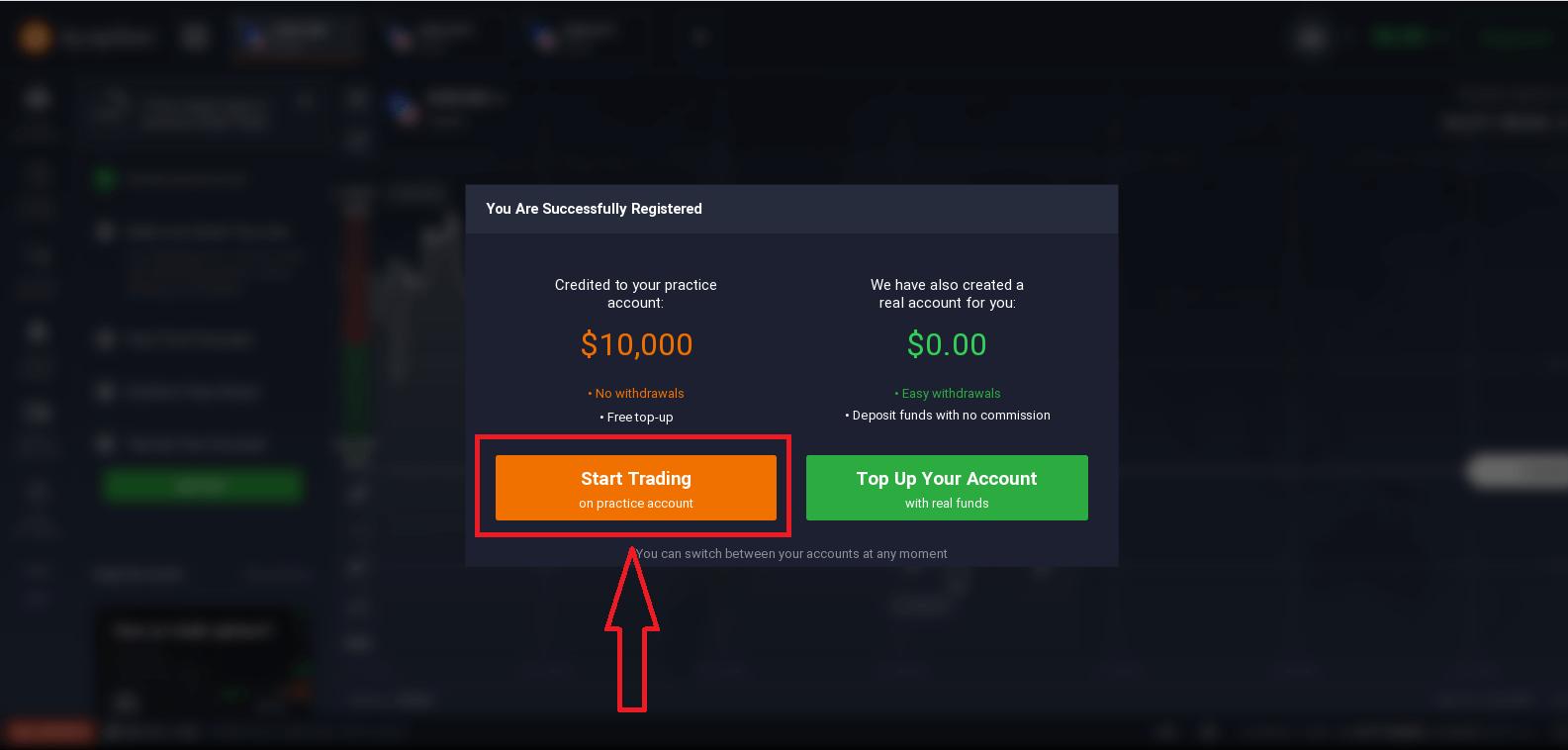 IQ Option पर खाता कैसे खोलें और पैसे कैसे निकालें